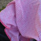 Pink Plaid Baby Blanket & Burp Cloth Set