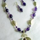 Amethyst and Sterling Silver Necklace Set003 - 101