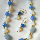 Blue Agate Pendant Set 209-1414