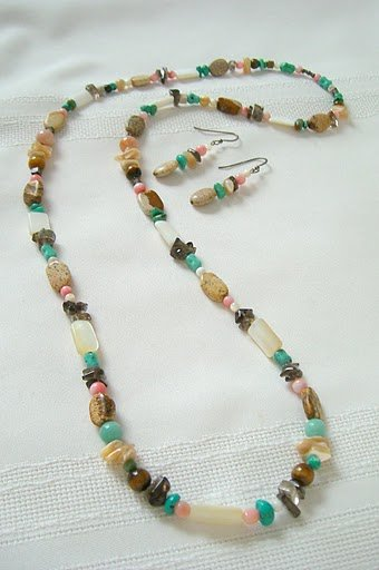 30� Over The Head Style Necklace Set 3064
