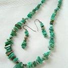 Turquoise Teardrop Pendant Necklace Set 3196