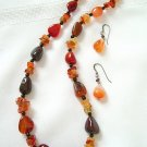 All Mix – No Match Carnelian Onyx and Vermeil Necklace 3254