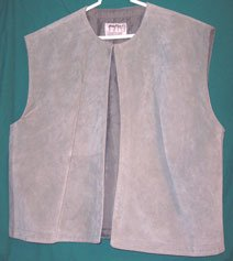 Renaissance Silver Grey Totally Suede Vest