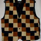 Patchwork Browns Suede Vest