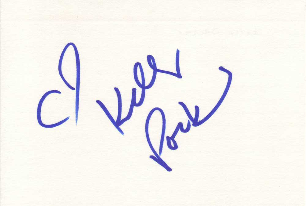 Kelly Packard Autographed Index Card