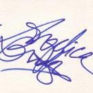 Angelica Bridges Autographed Index Card