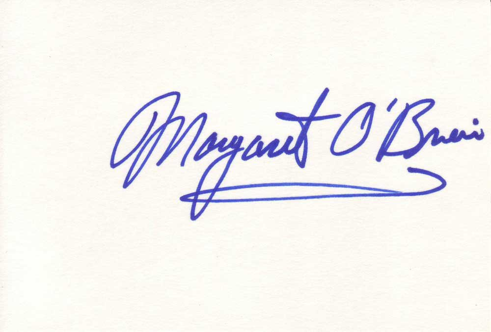 Margaret O'Brien Autographed Index Card