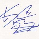 KC Haley Autographed Index Card