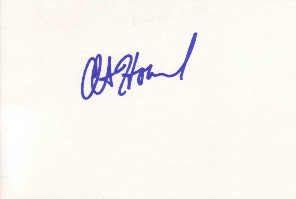 Clint Howard Autographed Index Card