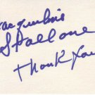 Jackie Stallone autographed 3 x 5 index card