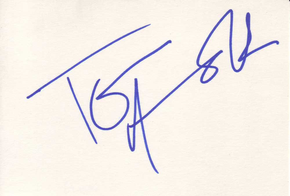 Tom Arnold Autographed Index Card