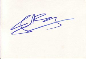 Jake Busey Autographed Index Card