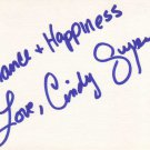 Cindy Guyer Autographed Index Card
