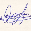 Dawn Lewis Autographed Index Card
