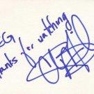 Chi McBride Autographed Index Card