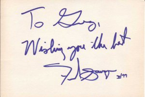 Fred Savage Autographed Index Card