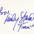 Mindy Sterling Autographed Index Card