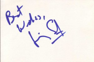 Jimmy Smits Autographed Index Card