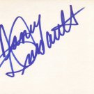 Nancy Dussault Autographed Index Card