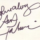 Ava Fabian in-person autographed 3x5 index card