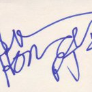 Shawn Michael Howard autographed 3 x 5 index card