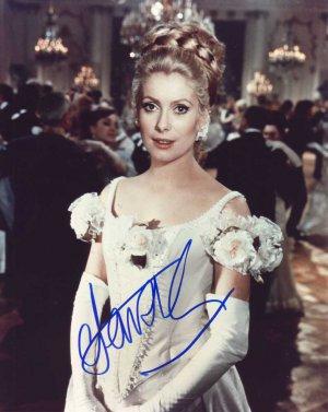 Catherine Deneuve in-person autographed photo