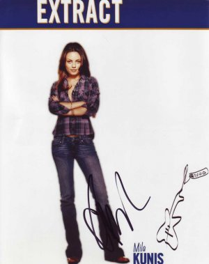 Mila Kunis in-person autographed photo