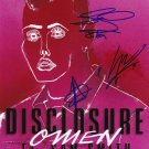Disclosure and Sam Smith in-person autographed Group photo