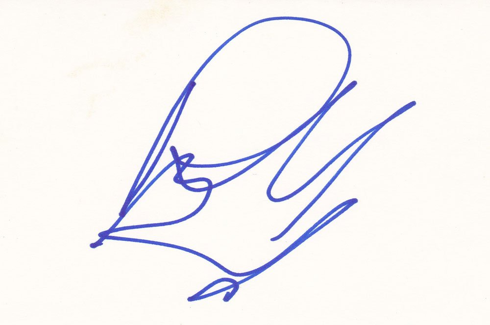 Richard Grieco Autographed Index Card