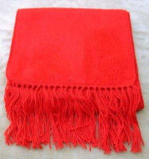 Scarf Alpaca Scarf Bright Red Made in Peru