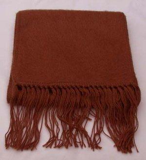 Scarf  Alpaca Scarf Dark Sienna Made in Peru