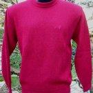 Sweater Alpaca Mens Alpaca Sweater Red Size Large