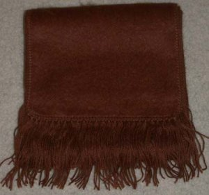 Alpaca Scarf  Brown Made in Peru