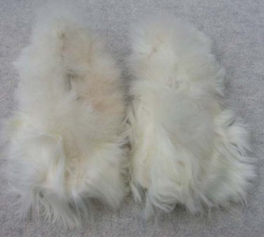Alpaca Fur Slippers Youth Size 13 1/2 - 1