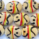 Desert with Black, Red and Yellow Lampwork Glass Beads 25mm (LW1140)