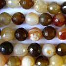 Agate Faceted Round Beads 12mm (GS1184)