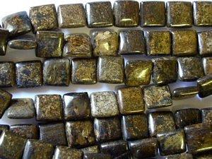 Bronzite Square Tabular Beads 10mm (GS1226)