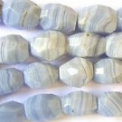 Blue Lace Agate Faceted Nugget Beads 20mm (GS1294)