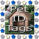 Single Side Engraved Pet ID Tag for Dog or Cat
