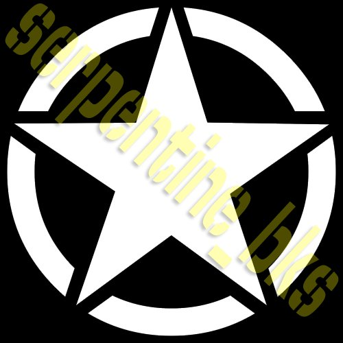 JEEP STAR DECAL CIRCLE US ARMY USMC MILITARY WILLYS 6""