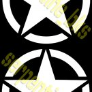JEEP STAR DECAL CIRCLE US ARMY USMC MILITARY WILLYS 15""