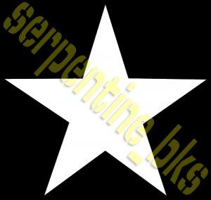 "JEEP STAR DECAL US ARMY USMC MILITARY WILLYS 19"""