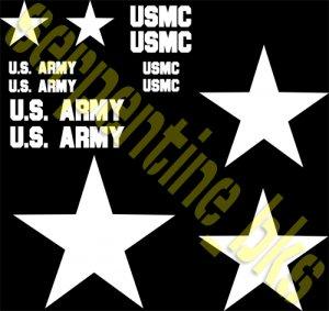JEEP STAR DECAL KIT US ARMY USMC MILITARY WILLYS