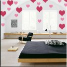 136 1 inch Hearts Vinyl Wall Decor Stickers