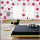 24 10 inch Dots Vinyl Wall Decor Stickers