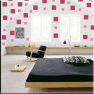 136 1 inch Squares Vinyl Wall Decor Stickers