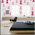136 1 inch Teddy Bears Vinyl Wall Decor Stickers