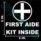 First Aide Decal Sign Window / Door Vinyl