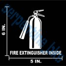 Fire Extinguisher Inside Decal 6x5 Window / Door Vinyl