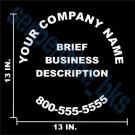 Business Sign for Rear of Truck Car Vinyl Window Decal